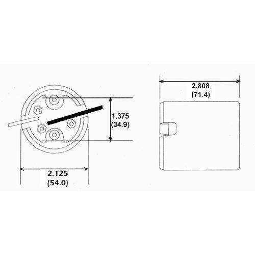 LH0548 Dimensional drawing