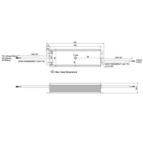 HLG-100H-24 dimensions