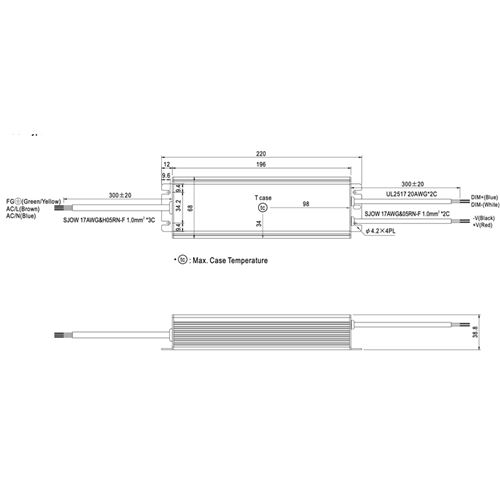 HLG-100H-48B dimensions