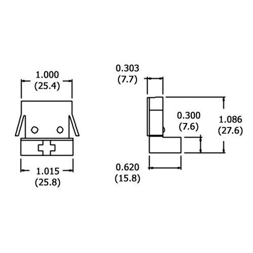 EMF LR95-B (LH0101) - Shunted - G13 medium bipin -