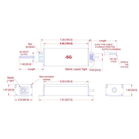 Q2-U12-SG dimensions