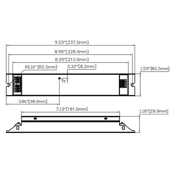 T1M1UNV105P-60E dimensions
